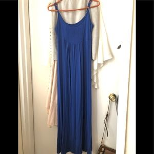 Calvin Klein Royal Blue Maxi Dress Size 6 Sm/Med